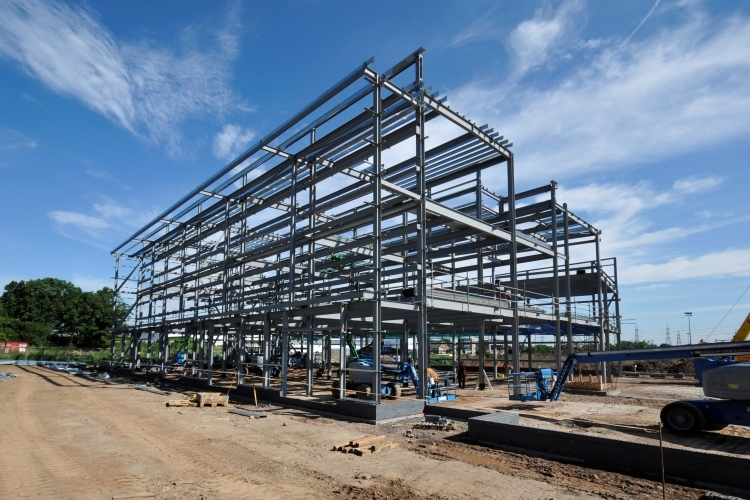 Completed Steel Frame - July 2015