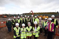 Turf Cutting at new Gwenfro Primary School