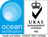 Ocean Certification - OHSAS 18001 Certified - UKAS Management Systems