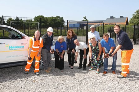 Wynne Construction thanked for donating car park extension