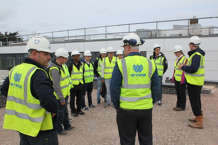 June 2014 - French Student Visit to Site