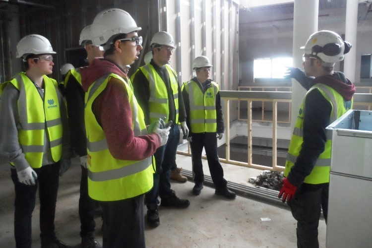 November 2015 - Site Visit by Coleg Cambria