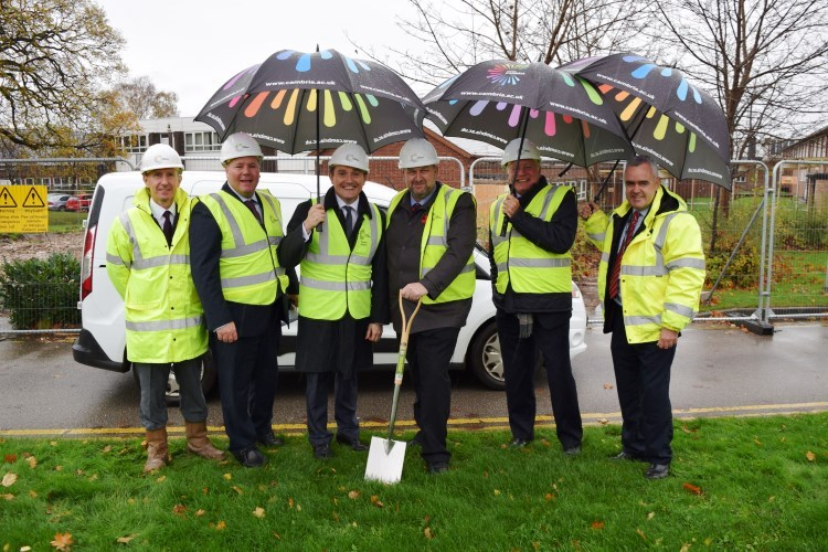 Turf Cutting Ceremony with Carl Sargeant AM and Coleg Cambria team
