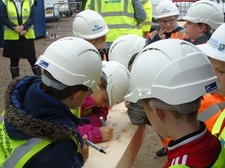 Beam Signing at Glasdir Development, Ruthin