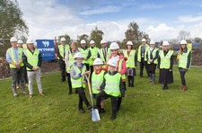 Pupils cut turf at Wynne's latest school project