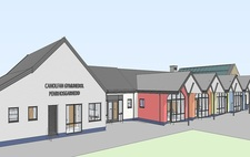 Ysgol y Faenol – work gets underway on extending school building