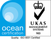 Ocean Certification - ISO9001 Certified - UKAS Management Systems