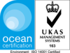 Ocean Certification - ISO14001 Certified - UKAS Management Systems