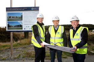 Work begins on £3.9m business units at former heliport in Holyhead
