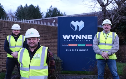Wynne Construction celebrates as three employees gain degree-level qualifications
