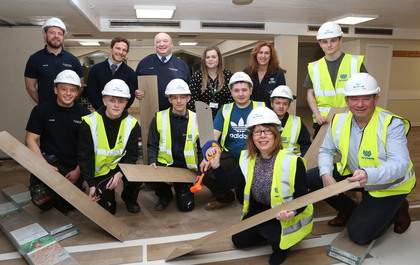 Plas Madoc renovation with Traineeship Construction Academy